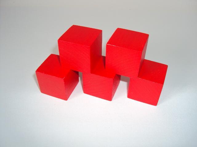 Cube 30x30x30 mm rouge 1