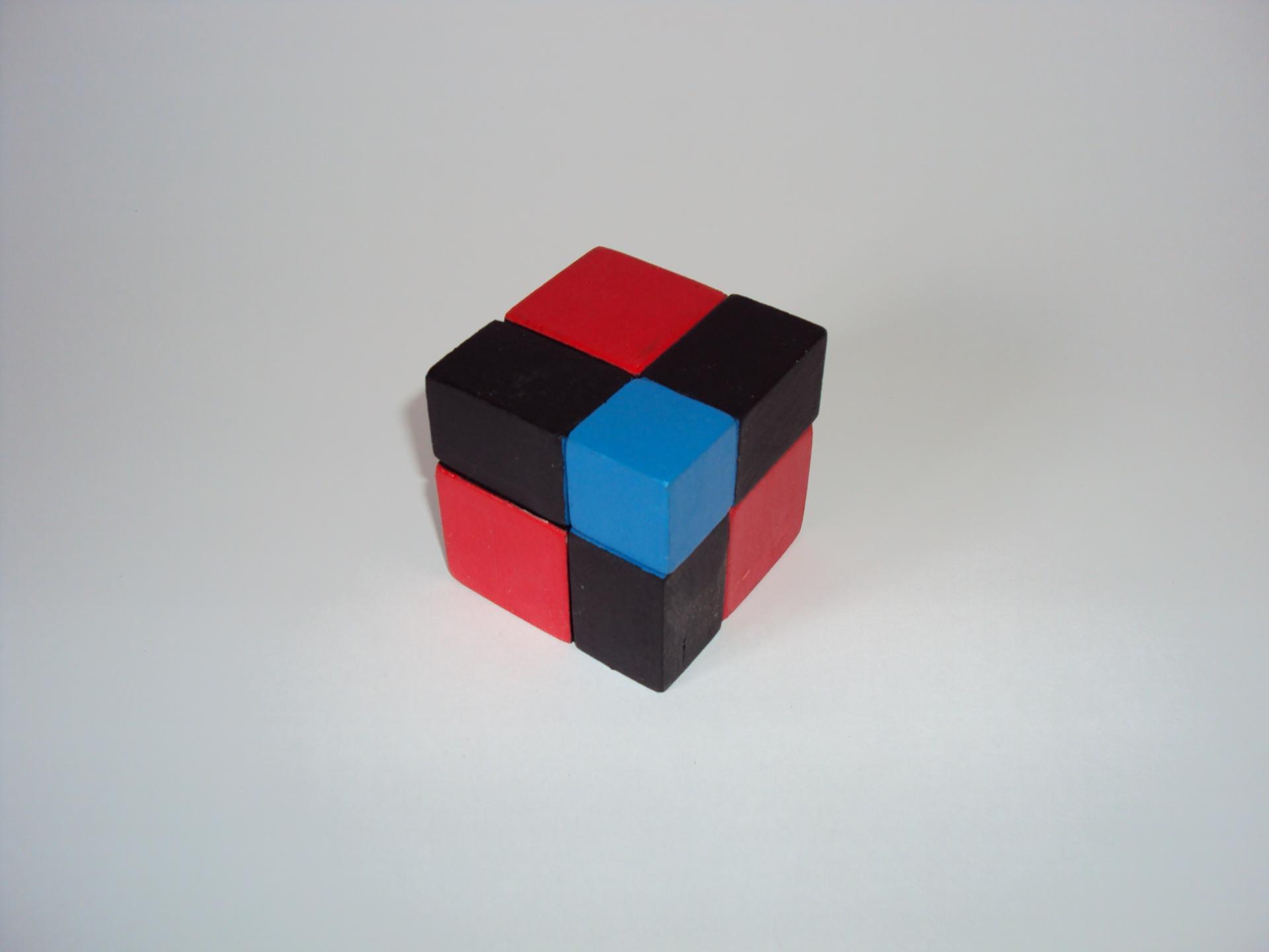 Cube binome montessori