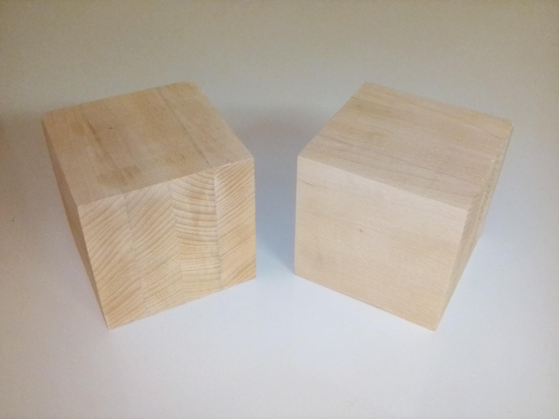 Cube contrecolle 10 cm