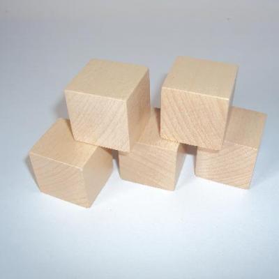 Cube en bois naturel 1