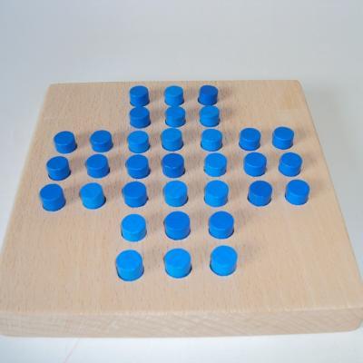 Solitaire pions bleu