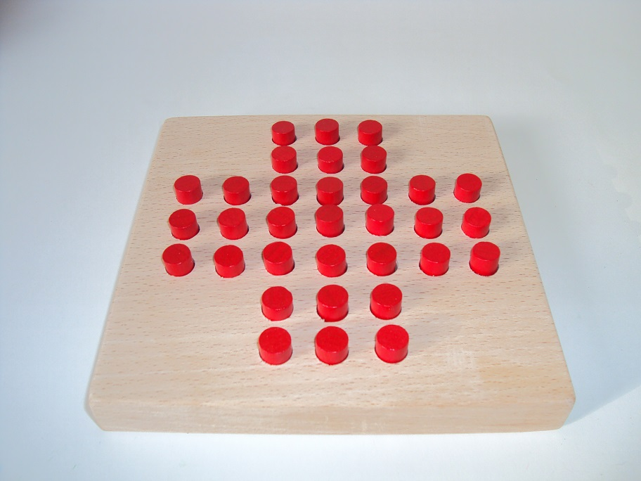 Solitaire pions rouge