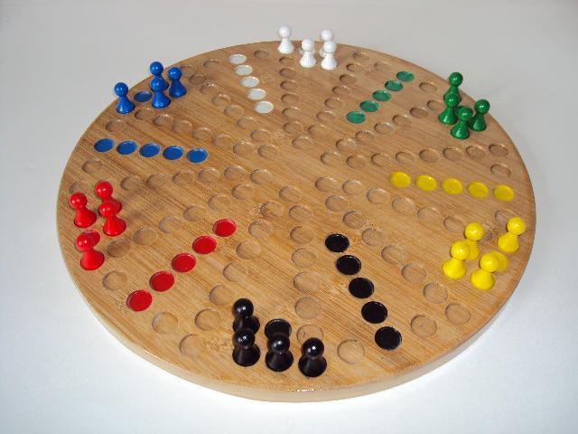 Toc 6 joueurs pions en bois