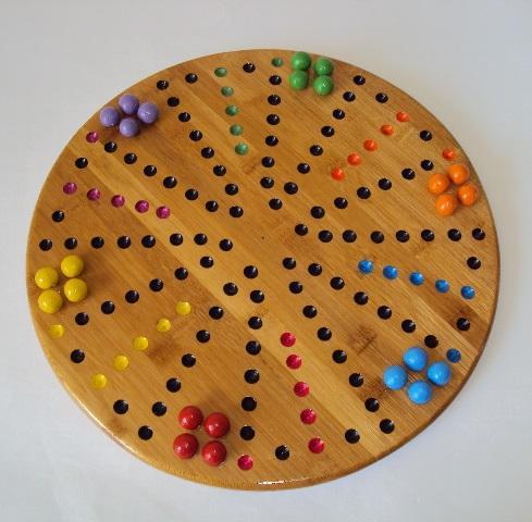 Toc 6 joueurs bambou avec billes en terre